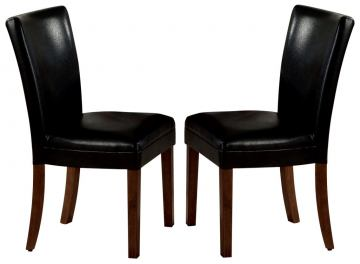 Coaster Parson Chair in Black (Set of 2) 4077BLK