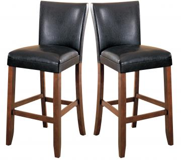 "Coaster Telegraph 29"" Counter Height Stool in Black (Set of 2) 100387"