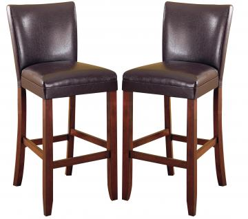 "Coaster Telegraph 29"" Counter Height Stool in Brown (Set of 2) 100388"
