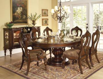 Homelegance Prenzo 7pc Dining Table Set in Warm Brown