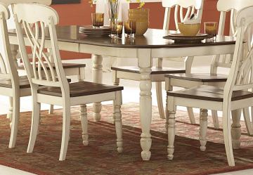 Homelegance Ohana Dining Table in Antique White/Warm Cherry 1393W-78