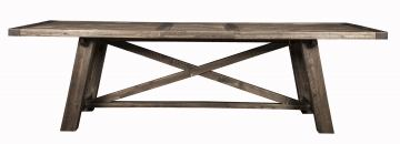 Alpine Furniture Newberry Extension Dining Table in Salvaged Grey 1468-22