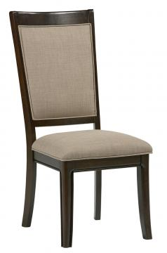 Standard Furniture Mulholland Boulevard Upholstered Side Chair (Set of 2) in Brown Cherry 15167