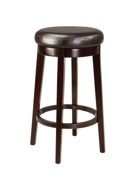 "Standard Furniture Smart Stools 29"" Round Swivel Stool in Brown 19604"