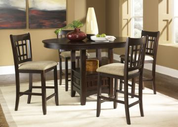Liberty Furniture Santa Rosa 5pc Casual Dining Room in Merlot Finish 20-CD