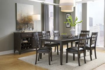 A-America Bristol Point 7pc Butterfly Leg Dining Set in Warm Gray