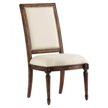 Pulaski Accentrics Home Nimes Side Chair (Set of 2) in Distressed Brown 205042