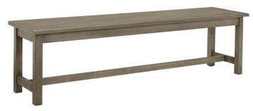 "Vaughan-Bassett Simply Dining 68"" Bench w/ Live Edge in Grey 221-069"