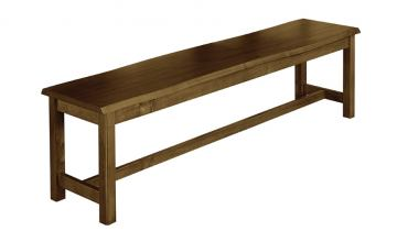 "Vaughan-Bassett Simply Dining 68"" Bench w/ Live Edge in Antique Amish 230-069"