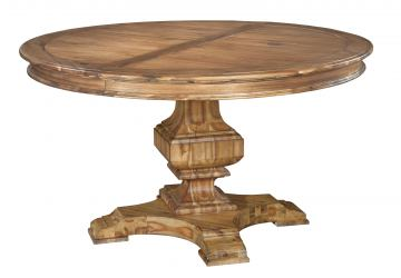 Hekman Wellington Hall Round Dining Table in Burnished Brown 2-3321