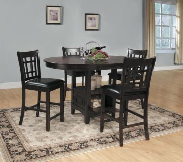 Homelegance Junipero 5pc Counter Height Table Set in Dark Cherry