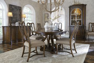 A.R.T Firenze II 5pc Round Dining Set in Rich Canella
