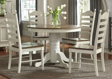 Liberty Furniture Springfield Pedestal Dining Table In Honey And Cream 278 4260