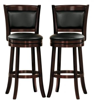 Homelegance Shapel Swivel Counter Height Chair in Cherry (set of 2) 1131-24S