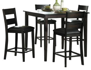 Homelegance Griffin 5-Piece Counter Height Table Set in Deep Espresso 2425-36