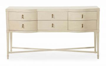 Bernhardt Salon Sideboard with Teardrop Drawer Pulls in Alabaster 341-131