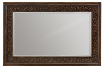 Bernhardt Pacific Canyon Rectangular Mirror in Coffee Bean 349-332