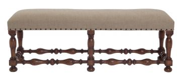 Bernhardt Eaton Square Bench in Harvest Brown 352-508