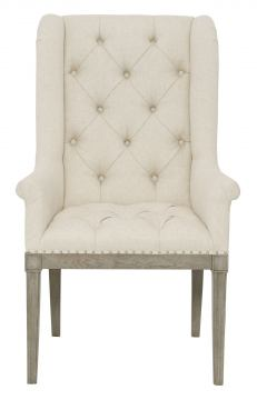 Bernhardt Marquesa Host Chair in Gray Cashmere Finish 359-548