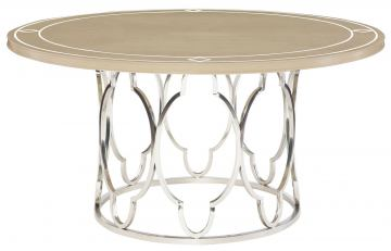 Bernhardt Savoy Place Round Dining Table in Chanterelle