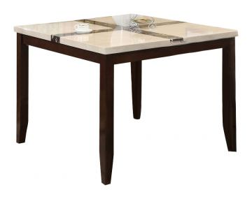 Acme Britney White Faux Marble Top Counter Height Table in Espresso 16555