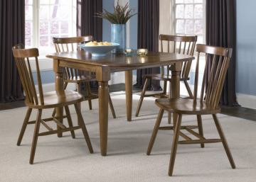 Liberty Furniture Creations II 5pc Drop Leaf Table Set in Tobacco Finish 38-T2