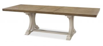 Universal Moderne Muse Rectangular Dining Table in Bisque 414655 CLEARANCE CODE:UNIV20 for 20% Off