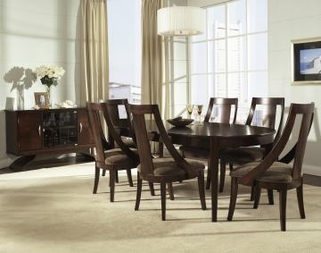 Somerton Cirque 7-Piece Oval Dining Set in Merlot