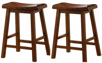 "Coaster 24"" Wooden Bar Stool in Dark Walnut (Set of 2) 180069"