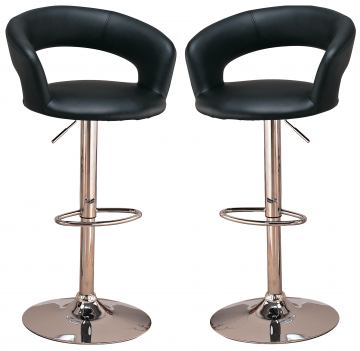 "Coaster 29"" Upholstered Bar Chair with Adjustable Height 120346 (Set of 2)"