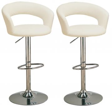 "Coaster 29"" Upholstered Bar Chair with Adjustable Height 120347 (Set of 2)"
