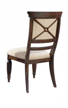 Broyhill Furniture Jessa Uph Seat/Back Side Chair in Acacia 4980-583 (Set of 2)