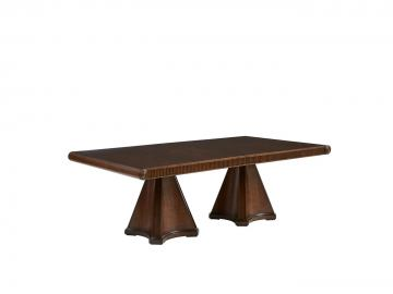 Stanley Villa Couture Dante Double Pedestal Dining Table in Mottled Walnut 510-11-36