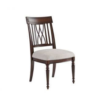 Stanley Villa Couture Lucca Side Chair in Mottled Walnut (Set of 2)