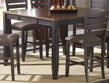 Homelegance Natick Counter Height Table in Warm Espresso/Light Brown 5341-36