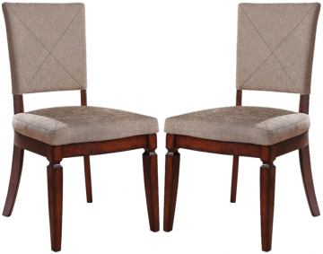 Acme Shelton Fabric Upholstered Side Chairs (Set of 2) in Walnut 70623