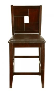 Alpine Furniture Lakeport Counter Height Pub Chair (Set of 2) in Espresso 552-02