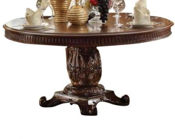 "Acme Vendome Single Pedestal Round Dining Table with 60""D Table Top in Cherry 62015 SPECIAL"