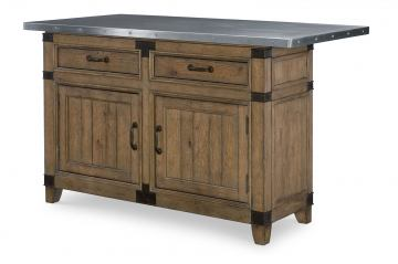 Legacy Classic Metalworks Kitchen Island in Factory Chic 5610-190K