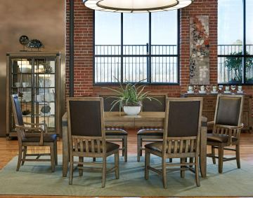 Legacy Classic Metalworks 7-Piece Rectangular Dining Set in Factory Chic
