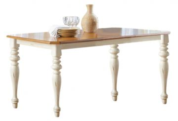 Liberty Furniture Ocean Isle Rectangular Leg Table in Bisque with Natural Pine 303-T3872