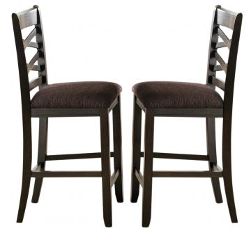 Liberty Furniture Bistro Double X-Back Counter Chair (Set of 2) in Honey/Espresso 74-B300124