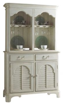 Fine Furniture Summer Home China Buffet with Hutch in Shell 1051