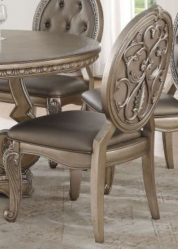 Acme Furniture Northville Side Chair in Antique Champagne (Set of 2) 66922