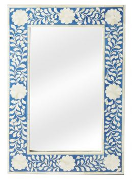 Butler Specialty Bone Inlay Vertical Wall Mirror in Heritage Bllue 1855070