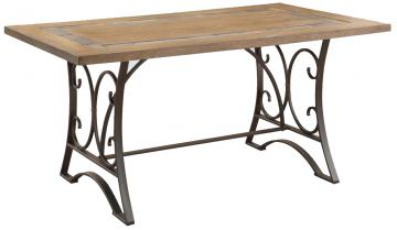Acme Furniture Kiele Dining Table in Oak and Antique Black 71125