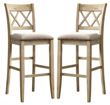 Mestler Upholstered Counter Stools in Antique White (Set of 2) D540-224 CLEARANCE