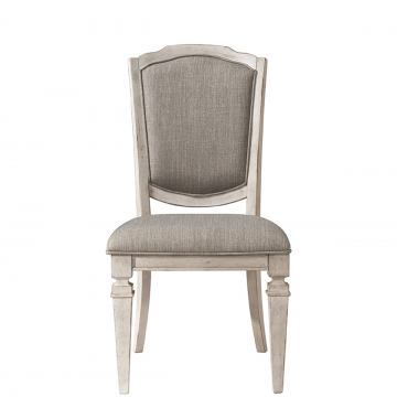 Riverside Elizabeth Upholstered Side Chair (Set of 2) in Smokey White