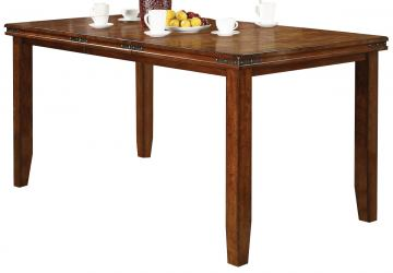 Crown Mark Figaro Counter Height Table in Warm Medium Brown 2701T-4278