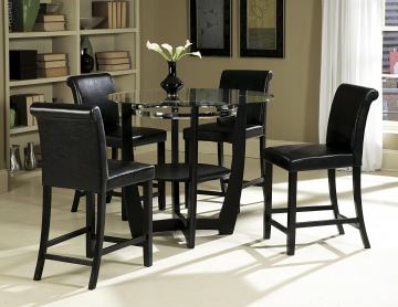 Homelegance  Sierra 5pc Counter Height Table Set in Ebony